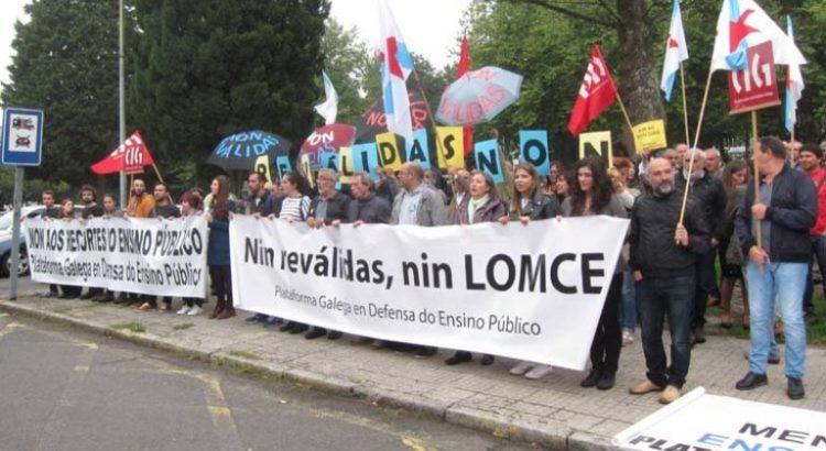 protesta plataforma galega defensa do ensino publico