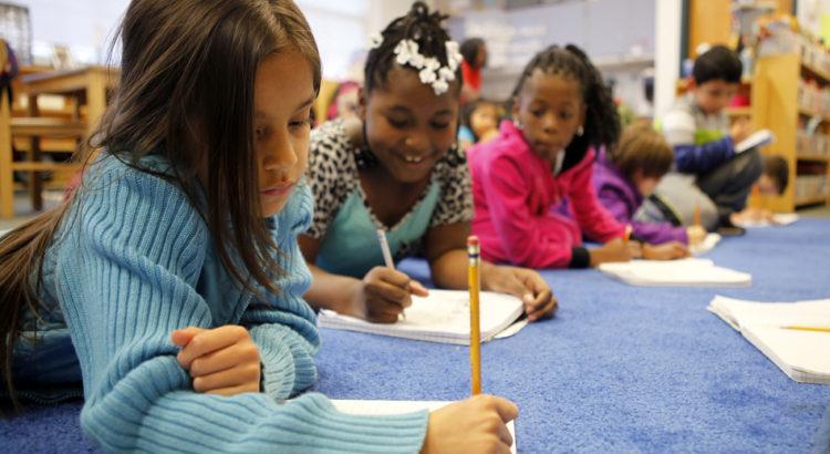 Students atGeorge Watts Elementary School in Durham, N.C