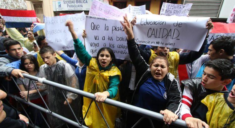 Protestas en Paraguay este año