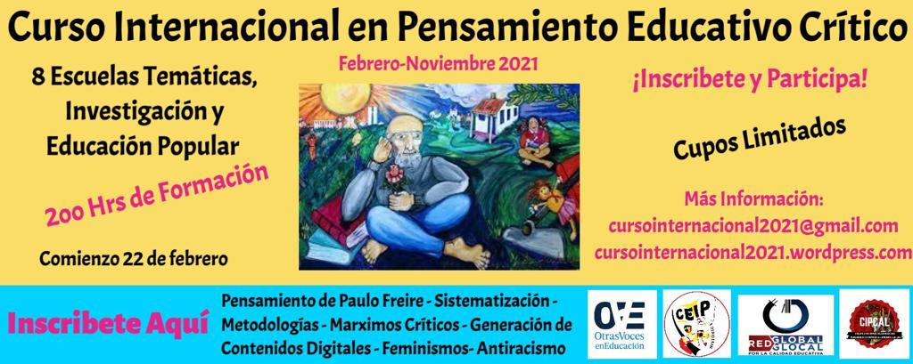 Curso Internacional de Pensamiento Pedagógico Crítico